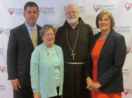 Mayor Walsh and Cardinal O'Malley at Laboure banquet